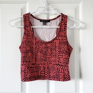 2/$20 Tribal Print Crop Top